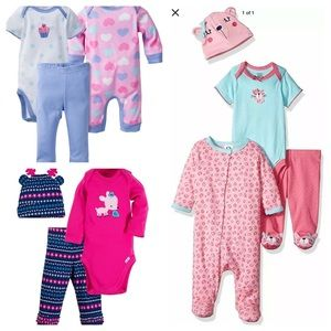 New GERBER 3 Sets 10 Pieces Sleepers Onesies 6-9